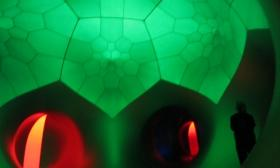 You can visit the Architects of Air luminarium at Common Ground.