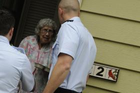 Individuals as well as groups like the Coast Guard (pictured above) have delivered Meals on Wheels to seniors in need.