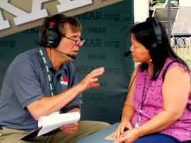 Current State's Mark Bashore speaks with Hmong folk singer Mai Zong Vue about her performance at the 2013 Great Lakes Folk Festival.