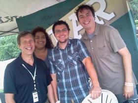 Mark Bashore, Emanuele Berry, Aaron Young and Joe Linstroth at Common Ground in July...join us at the GLFF this week.