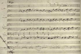 Mozart's Gran Partita manuscript