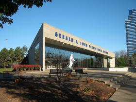 The Gerald R. Ford Presidential Library and Museum in Grand Rapids includes an exhibit on Ford's early years.