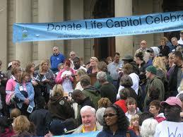The Donate Life Capitol Celebration takes place from 11 a.m. to 2 p.m. today.