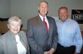 L to R: President Simon, Dr. Kaufman, AD Hollis