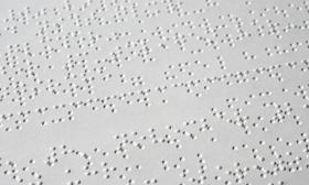 Braille reading materials are among the services provided by the Michigan Bureau of Services for Blind Persons.