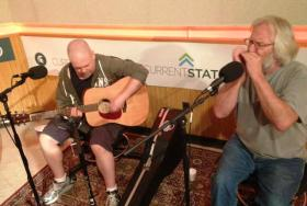 'Frog,' (S.J. Forgey, left) and Dave Matchette will perform this weekend at the Old Town Blues Festival.
