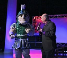 With Sparty at the QuizBusters Special Edition, 2012.