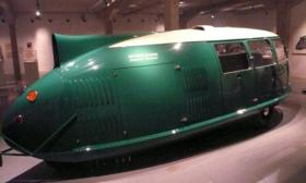 Dymaxion No. 4 is in Madrid, Spain. The Dymaxion was proposed as the first flying car.