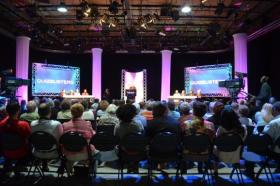 A live studio audience enjoyed the recent taping of a celebrity version of 'QuizBusters' at WKAR.