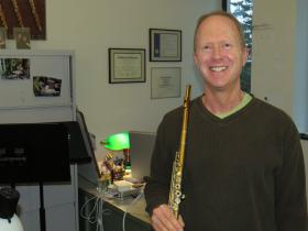 Rick Sherman performs with MSU faculty Monday night