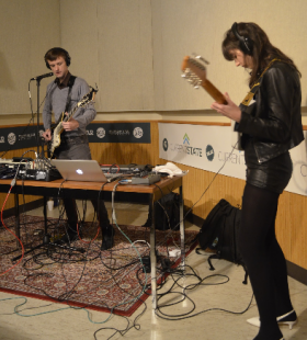 Mahogany (Andrew Prinz and Jaclyn Slimm) performed live on 'Current State'.