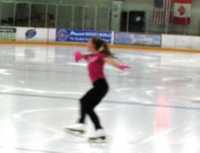 A skater practices at Suburban Ice in East Lansing.