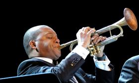 The Michigan Jazz Trail is bringing Wynton Marsalis and the Jazz at Lincoln Center Orchestra to Saginaw on Sunday.