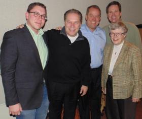 L to R: Jon Whiting, Tom Izzo, Mark Hollis, Russ White, Lou Anna K. Simon