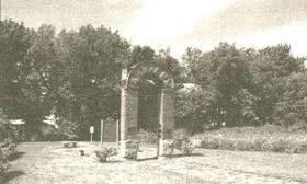 This arch is all that remains of the Italian Hall.