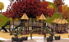 The East Lansing Rotary is working with the city of East Lansing to replace the wooden playground structure at East Lansing's Patriarche Park.