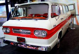 At this 1963 Chevy Greenbriar van, you can create a short video which is turned into a flip book you can take with you.