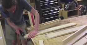 Alex Smith builds his own marimba out of Michigan Sassafras.