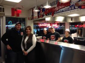 Chris Sotiropoulos (left) and his sister, Grace Keros with their staff.
