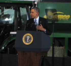 President Barack Obama signed the Farm Bill at MSU's McPhail Equine Performance Center on Feb. 7, 2014.