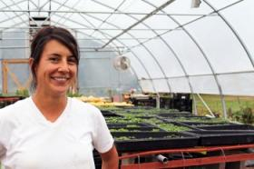 Denae Friedheim is the operator of Foodshed Farm in Bath Township.