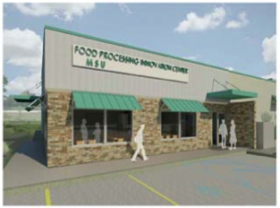 The Food Processing and Innovation Center is raising the funding for the estimated $5.5 million project. It's expected to consist of a mix of federal and state dollars, along with a commitment from MSU and five industry partners. It will be located on Hewlett Road.