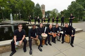 The MSU Percussion Ensemble is part of the 'Latin IS America' music festival.