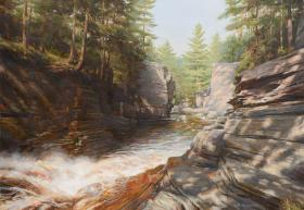 'Where the River Cleaves' by Sam Knecht is the winner of the first annual Spirit of Michigan competition as a part of Art for Charlie Foundation.