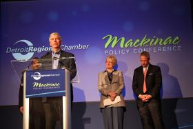 Governor Snyder at the 2014 Mackinac Policy Conference.