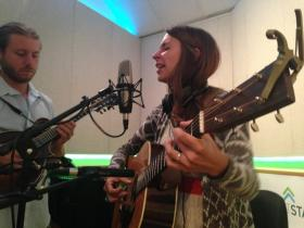Josh Rilko and Lindsay Lou performing live in studio on Current State.