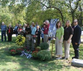 NWA Flight 2501 went down over Lake Michigan 64 years ago today and is still missing. This memorial service took place in 2008.