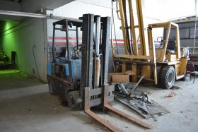 This forklift is one of the thousands of items being auctioned off at the Pontiac Silverdome.