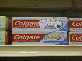 Triclosan has been taken out of many antibacterial soaps but continues to be used in products such as Colgate Total toothpaste.