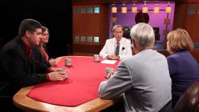 Chad Livengood, Kathy Gray, Bill Ballenger and Emily Lawler appearing on Off the Record with Tim Skubick.