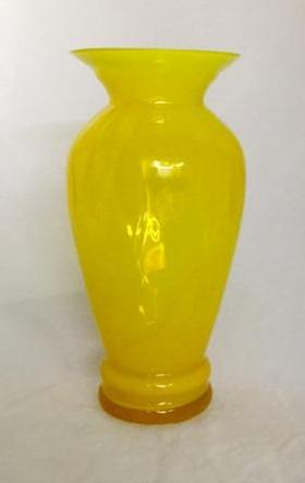 Blenko Yellow Vase