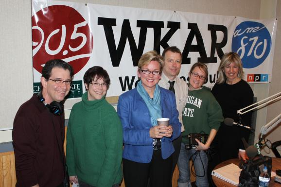 Portrait: WKAR Staff and Jennifer Granholm