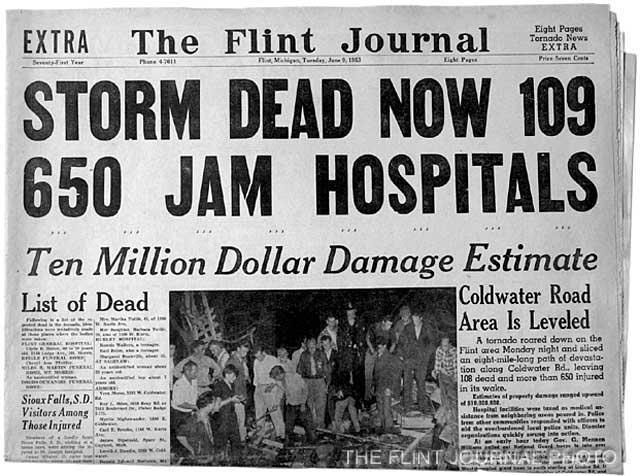 1953 : Flint Tornado Kills 116