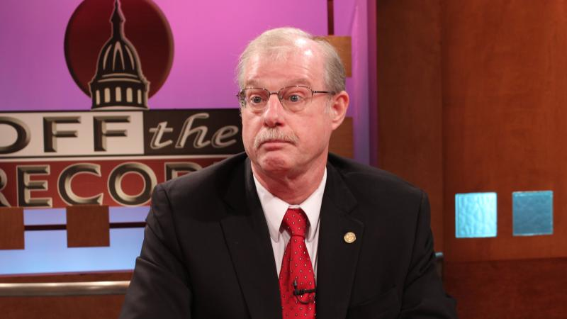 Representative Paul Opsommer-R of DeWitt, appearing on Off the Record with Tim Skubick.