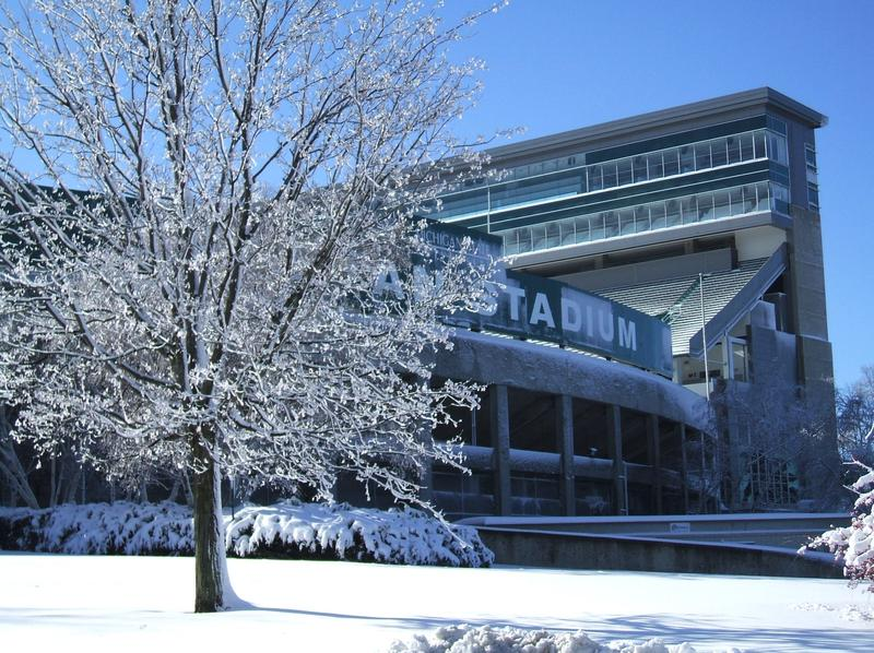 Spartan Stadium in winter