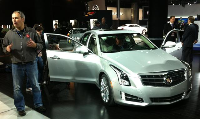 Reporters from around the world are covering the Detroit auto show. The ATS is featured prominently at the Cadillac display. Photo: Scott Pohl/WKAR