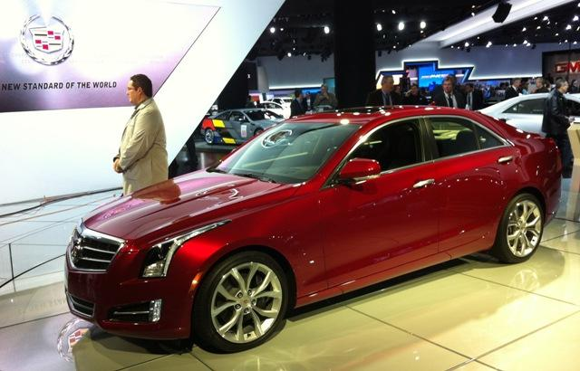 The Cadillac ATS will be built in Lansing. It will be available this summer, but it's on display at the North American International Auto Show in Detroit. Photo: Scott Pohl/WKAR