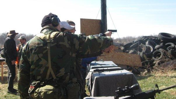 Michigan Militia Tax Blast features an open gun range.