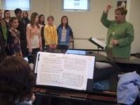 Mary Alice Stollak leads the MSU Children's Choir in rehearsal.