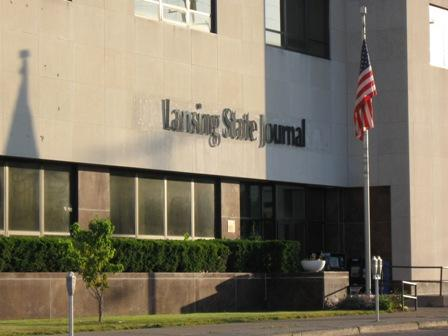 The Lansing State Journal building at 120 E. Lenawee St., Lansing.