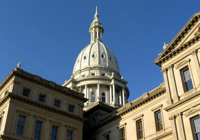 The Capitol in downtown Lansing.