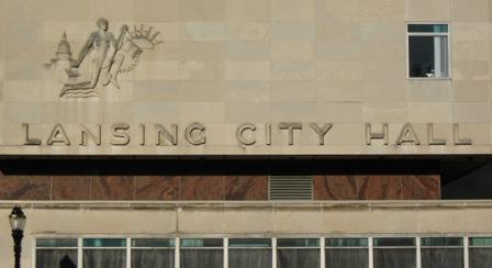 Front of Lansing City Hall building