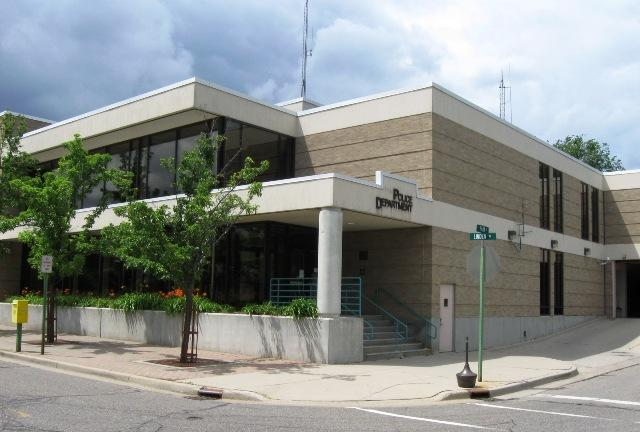 The East Lansing City Hall and police headquarters.
