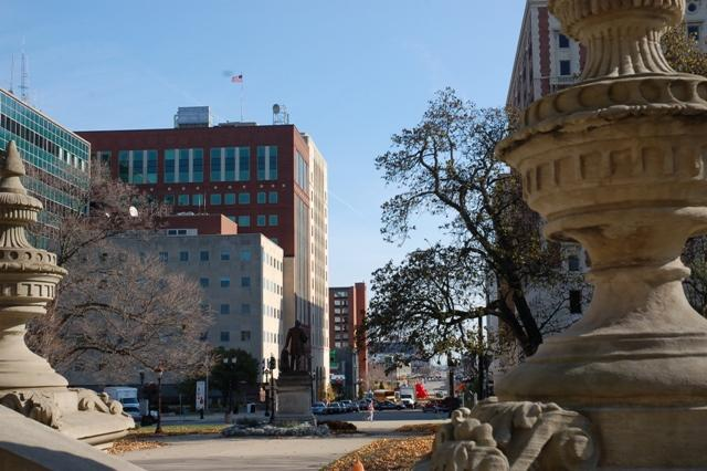 A view of Lansing's City Hall.