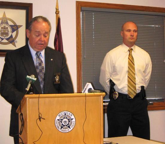 Left:  Fraternal Order of Police Lodge 141 Executive Director Tom Krug.  Right:  Detective Brad St. Aubin