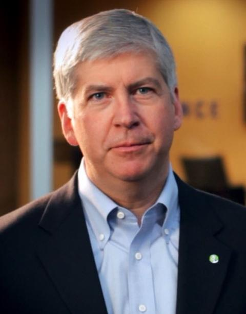 "Businessman Rick Snyder is running an ""anti-politician\"" campaign."